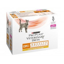 Pâtée OM OBESITY MANAGEMENT Chat 10x85g - Pro Plan Veterinary Diets
