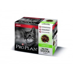 Purina Proplan Chat NUTRISAVOUR ADULT GELEE AGNEAU Sachets 10 X 85 g