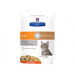 Pâtée K/D + MOBILITY POULET Chat 12x85g - Prescription Diet