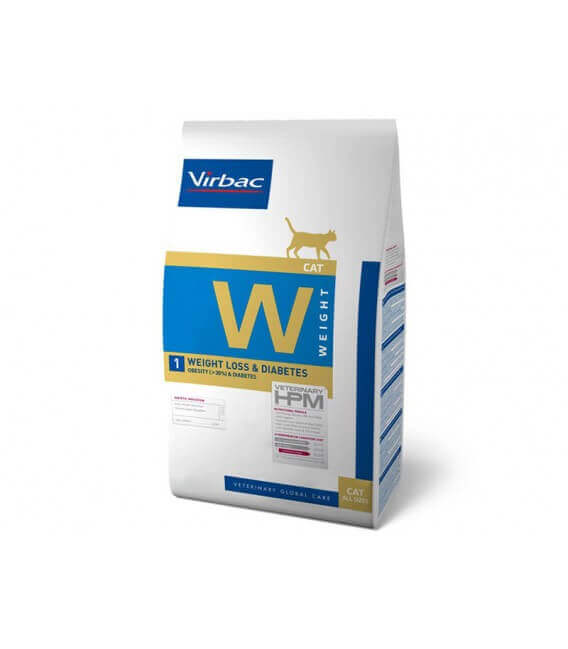 Croquettes WEIGHT LOSS & DIABETES Chat Sac 3 kg - Veterinary HPM