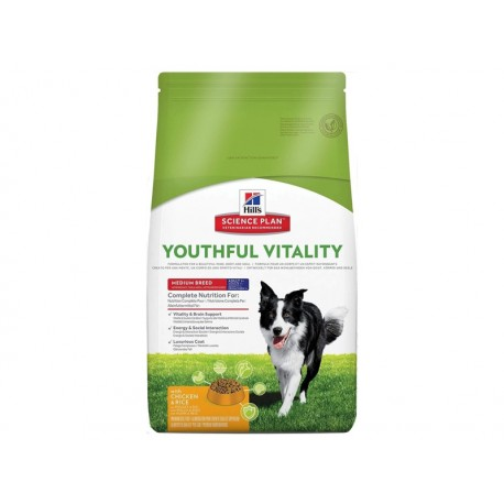 Science Plan Chien YOUTHFUL VITALITY ADULTE 7+ MEDIUM Sac 10 kg