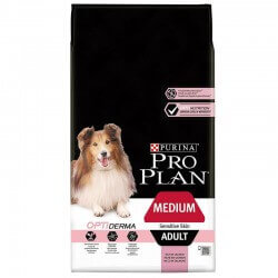Croquettes OPTIDERMA MEDIUM ADULTE SAUMON 14 kg Chien - PURINA Proplan