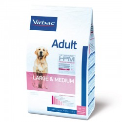 Croquettes ADULT MEDIUM & LARGE Chien Sac 12 kg - Veterinary HPM