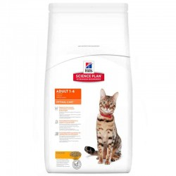 Croquettes ADULT OPTIMAL CARE POULET Sac 15 kg Chat - HILL'S Science Plan
