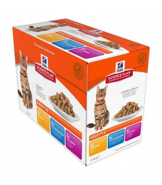 Pâtée ADULT PACK MIXTE Chat 12x85g - Science Plan