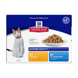 Pâtée MATURE PACK MIXTE Chat 12x85g - Science Plan