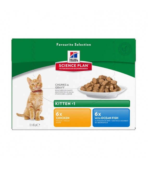 Pâtée KITTEN PACK MIXTE Chat 12x85g - Science Plan