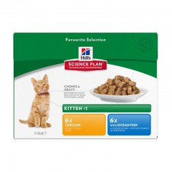 Sachets KITTEN PACK MIXTE 12 x 85 g Chaton - HILL'S Science Plan