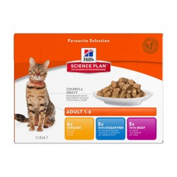 Pâtée ADULT PACK MIXTE Chat - Science Plan