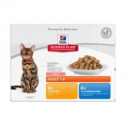 Sachets ADULT LIGHT PACK MIXTE 12 x 85 g Chat - HILL'S Science Plan