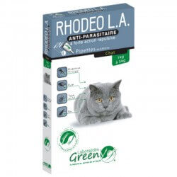 Solution RHODEO L.A. Boîte 4 pipettes Chat - GREENVET