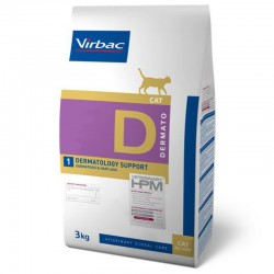 Croquettes DERMATOLOGY Chat Sac 3 kg - VIRBAC Veterinary HPM