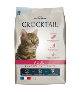 Croquettes CROCKTAIL ADULT DINDE Chat Sac 10 kg - Pro Nutrition Flatazor
