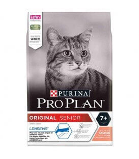 Croquettes ORIGINAL SENIOR LONGEVIS SAUMON Chat Sac 1.5 kg - Pro Plan