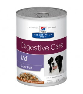 Pâtée I/D DIGESTIVE CARE LOW FAT MIJOTES POULET & LEGUMES Chien 12x354g - Prescription Diet