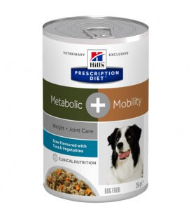 Pâtée METABOLIC + MOBILITY MIJOTES THON Chien - Prescription Diet