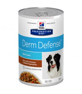 Pâtée DERM DEFENSE MIJOTES POULET Chien 12x354g - Prescription Diet