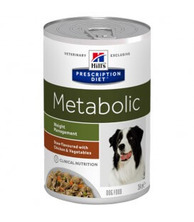 Pâtée METABOLIC MIJOTES POULET & LEGUMES Chien 12x354g - Prescription Diet