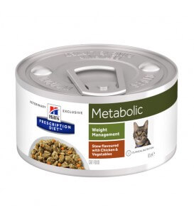 Pâtée METABOLIC MIJOTES POULET Chat 24x82g - Prescription Diet