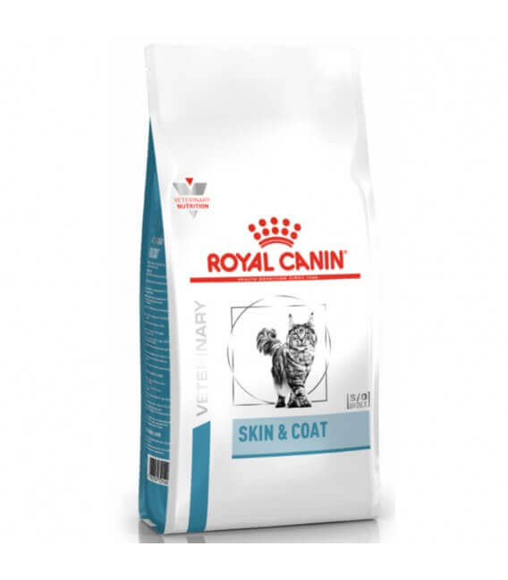 Croquettes SKIN & COAT Chat Sac 1,5 kg - Veterinary Care Nutrition