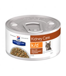 Pâtée K/D MIJOTES POULET & LEGUMES Chat 24x82g - Prescription Diet