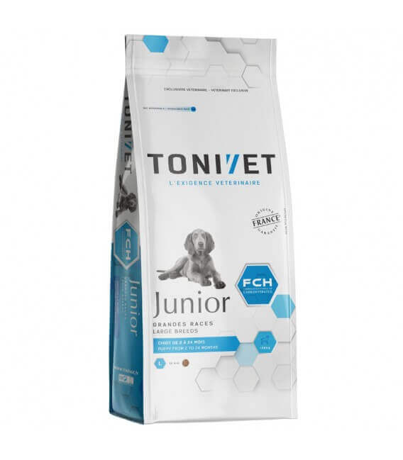 Croquettes JUNIOR GRANDE RACE Chien 15 kg - Tonivet