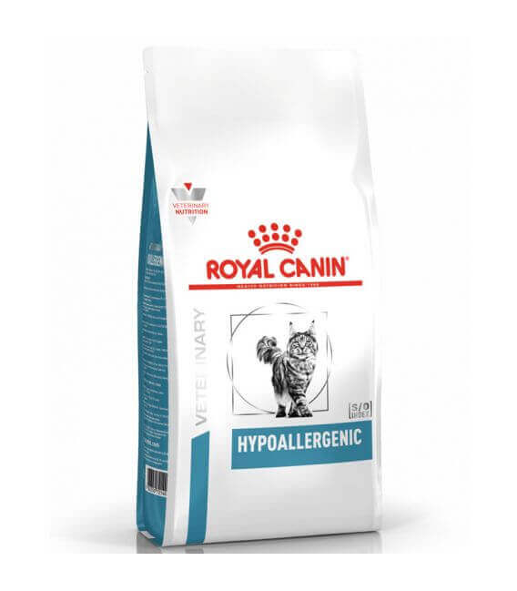 Croquettes HYPOALLERGENIC Chat Sac 2.5 kg - Veterinary Diet