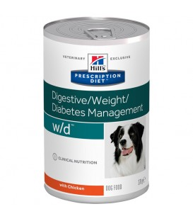 Pâtée W/D DIGESTIVE / WEIGHT MANAGEMENT Chien 12x370g - Prescription Diet