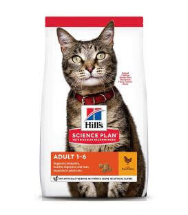 Croquettes ADULT POULET Chat Sac 15 kg - Science Plan