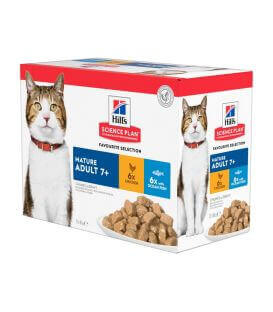 Pâtée MATURE ADULT 7+ PACK MIXTE Chat 12x85g - Science Plan