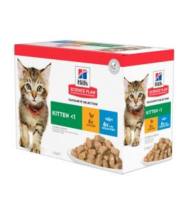 Pâtée KITTEN PACK MIXTE Chaton 12x85g - Science Plan