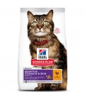 Croquettes ADULT SENSITIVE STOMACH&SKIN POULET Chat Sac 1,5 kg - Science Plan
