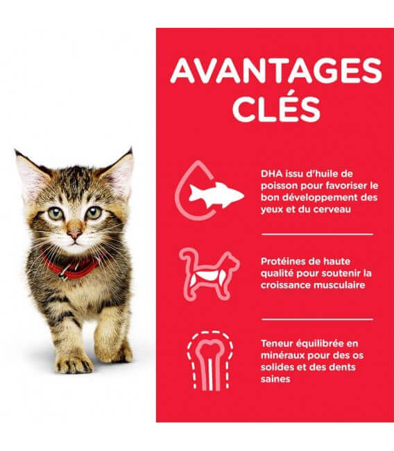 Croquettes KITTEN POULET Chaton Sac 1,5kg - Science Plan