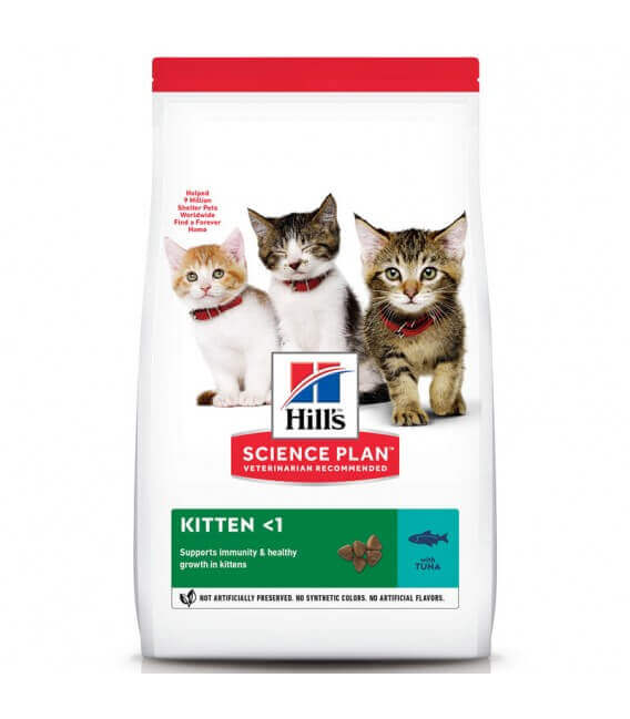 Croquettes KITTEN THON Sac 1,5 kg - Science Plan