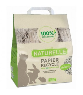 Litière NATURELLE PAPIER RECYCLE Chat et Nac Sac 10 l - Perlinette
