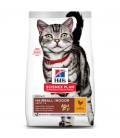 Croquettes ADULT HAIRBALL INDOOR POULET Chat Sac 1.5 kg - Science Plan