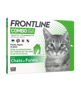 Solution COMBO SPOT-ON Chat et Furet 6 pip. - Frontline