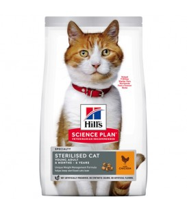 Croquettes STERILISED YOUNG ADULT POULET Chat Sac 3 kg - Science Plan