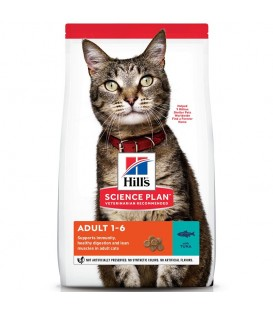 Croquettes ADULT THON Chat Sac 10 kg - Science Plan