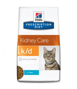 Croquettes K/D KIDNEY CARE THON Chat Sac 400 g - Prescription Diet