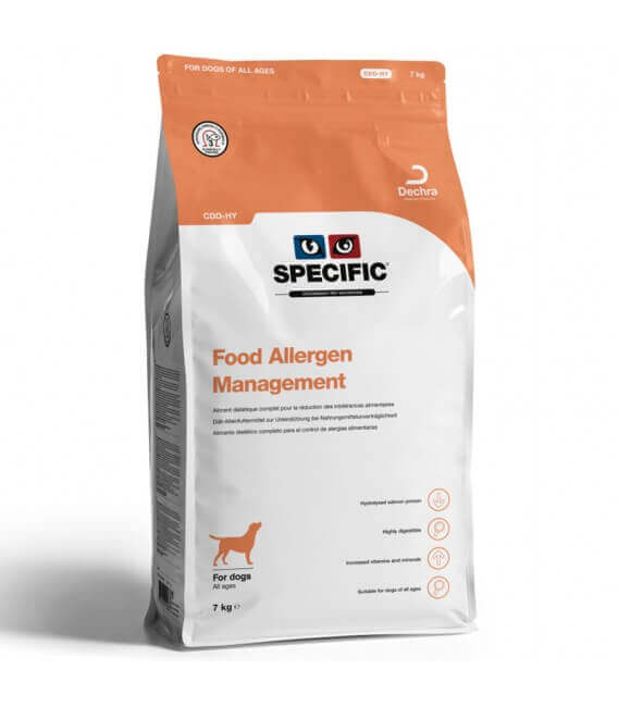 Croquettes CDD HY-FOOD ALLERGY MANAGEMENT Chien Sac 7 kg - Specific