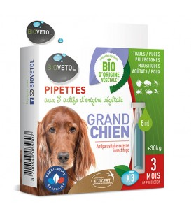 Solution antiparasitaire Grand Chien 3 pip.