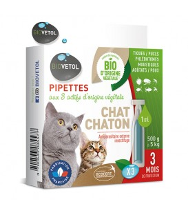 Solution antiparasitaire Chat 3 pip.