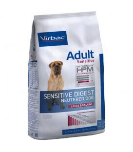 Croquettes NEUTERED SENSITIVE DIGEST LARGE & MEDIUM Chien Sac 12 kg - Veterinary HPM