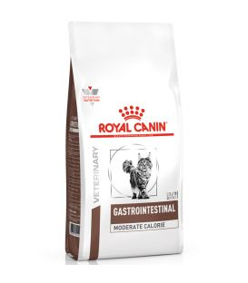 Croquettes GASTRO INTESTINAL MODERATE CALORIE Chat Sac 400 gg - Veterinary Health Nutirition