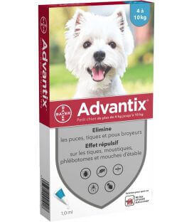Solution ADVANTIX Petit chien 6 pip.