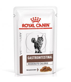 Pâtée GASTRO INTESTINAL MODERATE CALORIE Chat 12x85g - Veterinary Health Nutrition