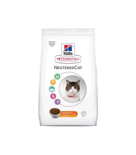 Croquettes NEUTERED YOUNG ADULT POULET Chat Sac 14 kg - VetEssentials