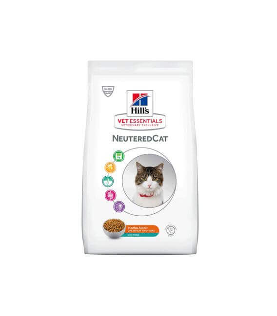 Croquettes NEUTERED YOUNG ADULT THON Chat Sac 1.5 kg - VetEssentials