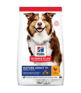 Croquettes MATURE ADULT 7+ ACTIVE LONGEVITY MEDIUM POULET Chien Sac 12 kg - Science Plan